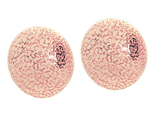 Fronay Co .925 Sterling Silver Large Grafiato Button Earrings dipped in Rose - Miami Beach Macy's