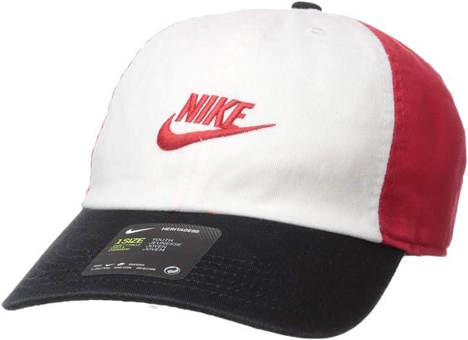One Size Nike Boys Kids Swoosh Heritage 86 Cap-Obsidian//Metallic Silver
