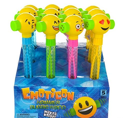 11.75'' EMOTICON NOISE HAMMER BUBBLE BATON, Case of 72