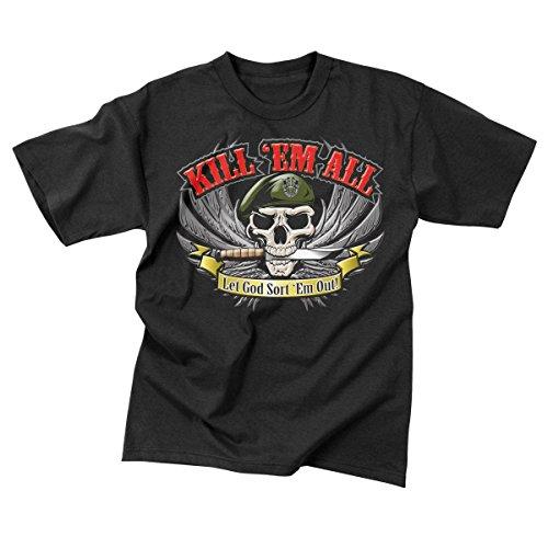 Rothco Kill 'Em All T-Shirt, Black, Large