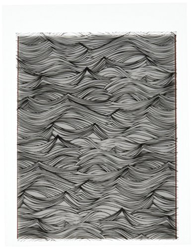 Hero Arts CG660 Waves Background Cling Stamp, Basic Grey by Hero Arts