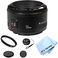 Canon 50mm F/1.8 II Portrait Lens Kit (White Box)- International Model
