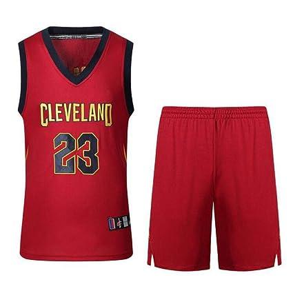 WSZS Cleveland Cavaliers 23 Camisetas De Baloncesto, James Deportes De Verano Uniforme De Baloncesto, Camiseta Incluyendo Pantalones Cortos
