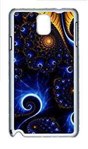 Abstract Blue Yellow Spiral Polycarbonate Hard Case Cover for Samsung Galaxy Note 3 N9000 White