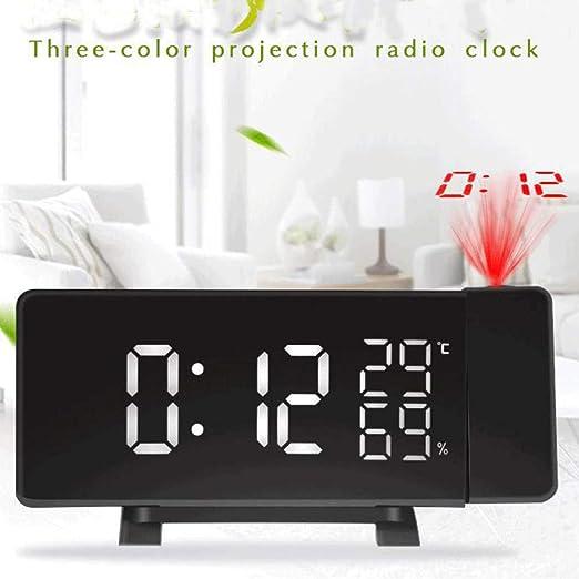 FPRW Radio Reloj Despertador Digital, Reloj con proyector de ...