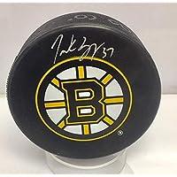 $59 » Patrice Bergeron Boston Bruins Signed Autographed Bruins Large B Logo Puck