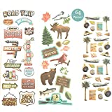 #2: 64 Piece! Travel, Road Trip & Nature Theme Scrapbook Sticker Kit - Value Pack!