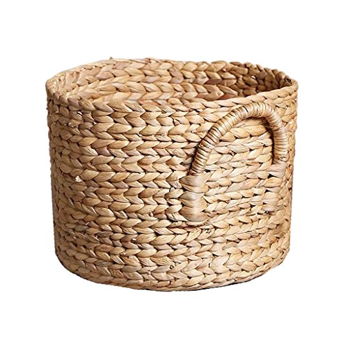 Homyl Large Capacity Woven Seagrass Wicker Pattern Laundry Basket,Braided Handles, Each Basket is unique, and handwoven by artisans, it will not all the same. - medium