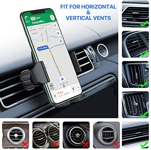 【2020 Upgraded】 Miracase Car Phone Mount, Air Vent Cell Phone Holder for Car, Universal Car Phone Holder Cradle Compatible with iPhone 11/11 Pro/11 Pro Max/XR/Xs/XS Max /8/7/6,Pixel,S10+ and More 5151NIXIpJL