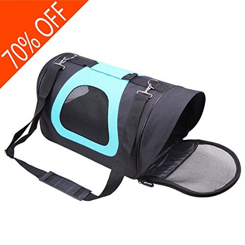 Soft Sided Dog Carrier Airline-Approved Pet Travel Portable Bag Home for Dogs, Cats and Puppies (S , Blue)
