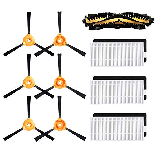 Replacement for DEEBOT N79S Main Brush, Filter, Side Brush Accessory Kit for Ecovacs DEEBOT N79 N79S Robotic Vacuum Cleaner, Pack of 10