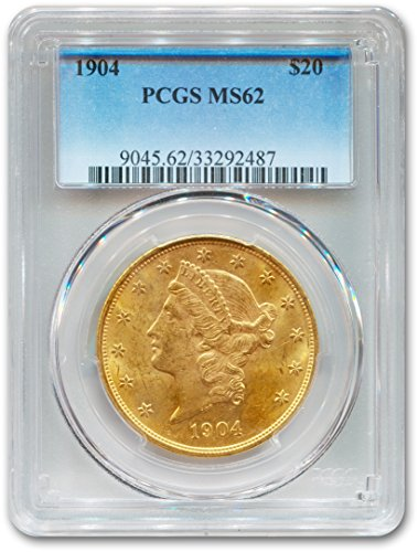 1904 Liberty Head Twenty Dollar PCGS - Gold 20 Dollar Coin