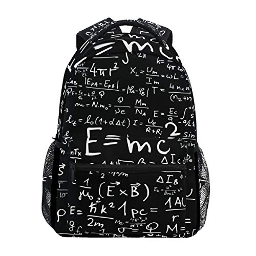 - Fashion School Backpack Physical Formula E = Mc2 Black Casual Daypack Large College Bookbag Slim Business Backpack Classic Travel Computer Bag