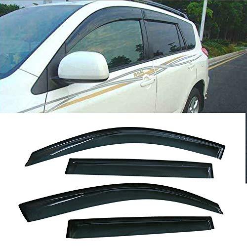 VIOJI 4pcs for 2006-2012 Toyota RAV4 (XA30) & XA30 Sun Rain Guard Vent Shade Side Window Wind Deflectors Window Visors (2007 Rav 4 Driver Visor)