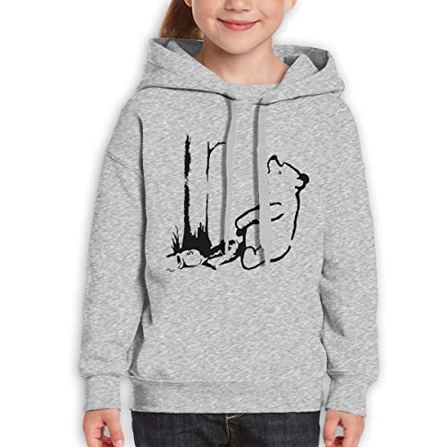 Beverly H. Griffin Teen Girls Boys Youth Sweater Banksy Winnie The Pooh Gray -