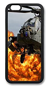 iPhone 6 Cases, Ah64 Apache Helicopter Durable Soft Slim TPU Case Cover for iPhone 6 4.7 inch Screen (Does NOT fit iPhone 5 5S 5C 4 4s or iPhone 6 Plus 5.5 inch screen) - TPU Black