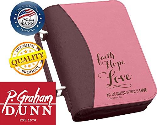 P. Graham Dunn Faith, Hope & Love Bible Cover (Purple & Pink) BBX08 8 x 10.75