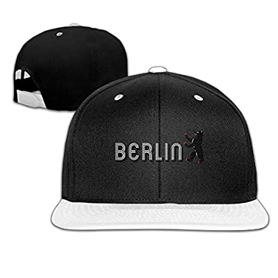 Rock Punk Trucker Hats Berlin Unisex Baseball Cap Hip-hop Snapback White