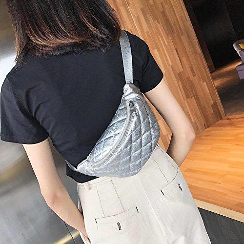 décontracté Solide Ceinture xintiandi Tour Sacs Packs Couleur épaule Femme de Trendy Taille PU Simple b gdqP7dr