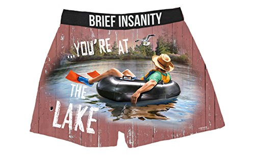 Brief Insanity Relax You're At The Lake Silky Funny Boxer Shorts Gifts for Men Dad