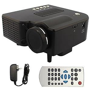 Mini HD LED Projektor Unterstützung HDMI USB SD VGA AV TV Input Pocket...