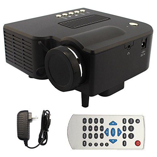 Led Beamer Mini Proyector Projector LED-Projektor portabel for PC Laptop Mobile phone HDMI VGA SD USB DVD