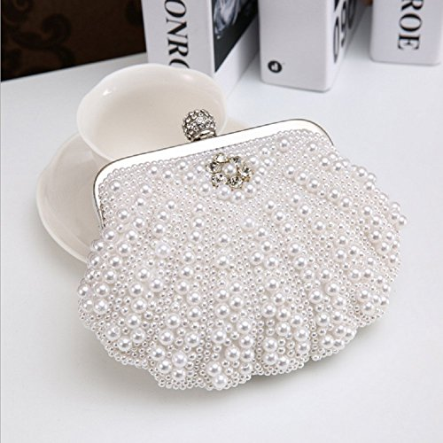 Bags Designer Fashion White Handbag Hand Party Prom Bags Beaded For Shimmer Bag Clutch Wedding Evening Clutches Women nAqpBfB