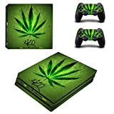 UUShop PS4 Pro Skin Vinyl Decal Cover for Sony PlayStation PRO Console Sticker Weeds Black