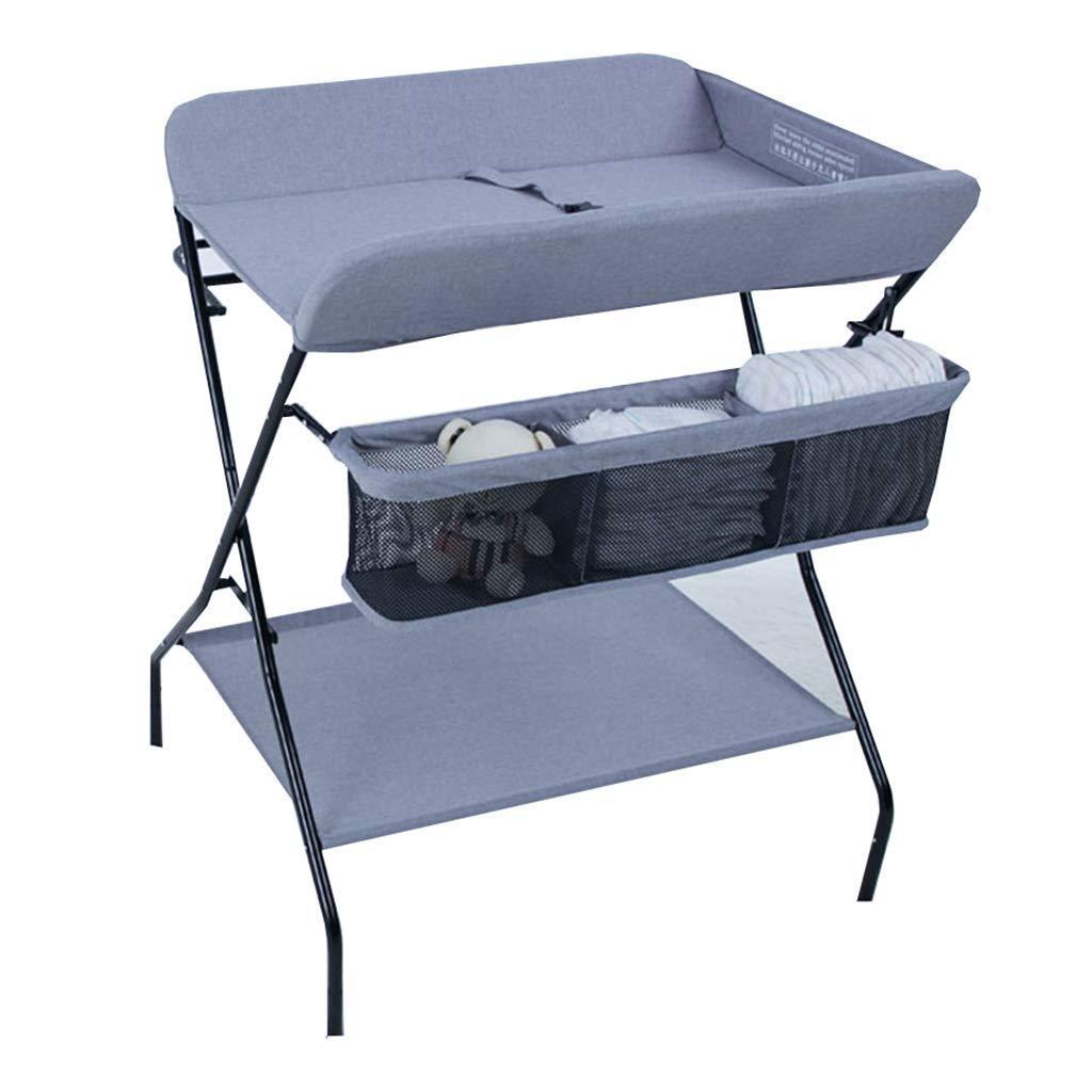 Color : Blue QZ Tables /à Langer Table /à Langer Portable pour b/éb/é Restaurant//Coin//Chambre de b/éb/é Organisateur de Rangement pour Bambin Se Pliant avec Rangement 0-3 Ans