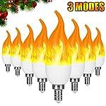 Severino E12 Flame Bulb LED Candelabra Light Bulbs,1.2 Watt Warm White LED Chandelier Bulbs,1800k 3 Mode Candle Light Bulbs, Flame Tip