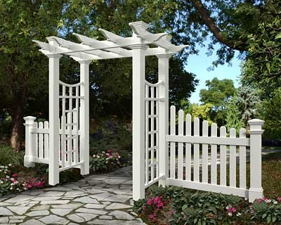 BestNest New England Fairfield Deluxe Arbor and Cottage Picket Wings (Picket Wings Fence)