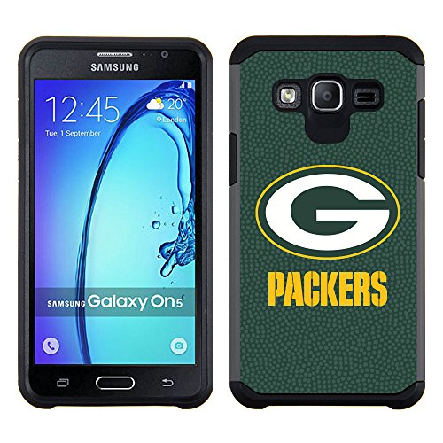 Samsung Galaxy On5 Green Bay Packers Pebble Grain Feel Multi Layer Case Green by GameWear