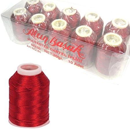 n./º 50 6 capas 20 g Bovina de hilo para ganchillo de Perlin Altinbasak rojo oscuro 300 m 300 m 0,75 mm IP328 de poli/éster
