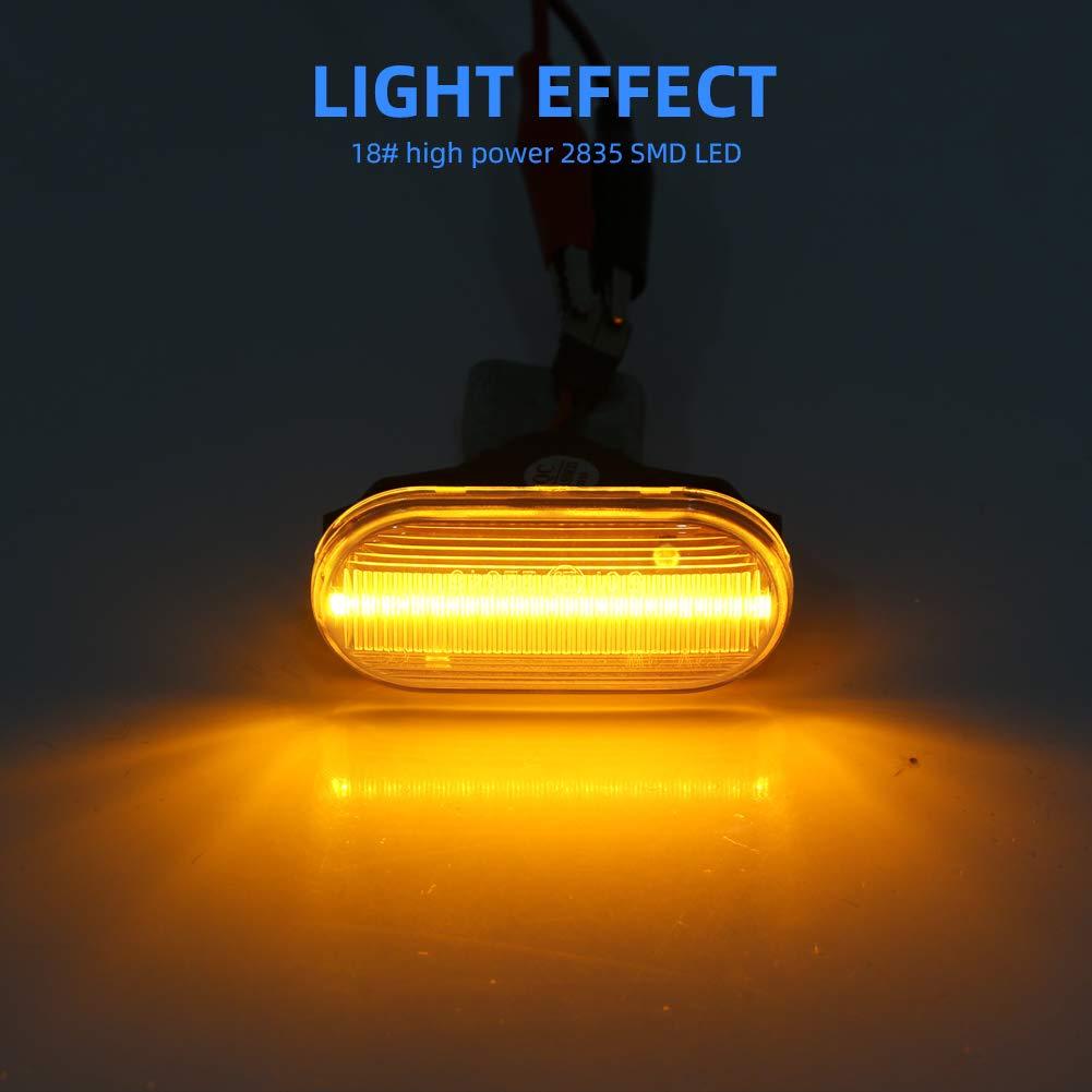 Note E11 Micra III OZ-LAMPE LED Luci laterali pick up Qashqai lente affumicata Indicatori di direzione laterali per Nissa-n Navara 350Z Z33 D40 1 paio