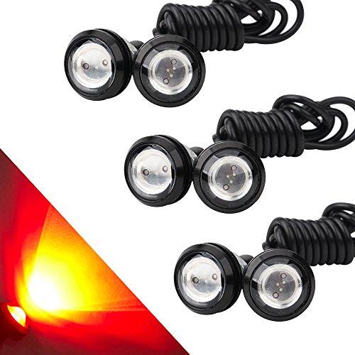OSC 6Pcs High Power 23mm Eagle Eye LED 9W DRL Fog Light Daytime Running Lights Car Motorcycle Clearance Marker Lights Lamp