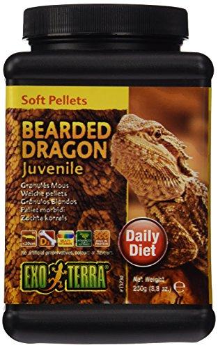Exo Terra Soft Pellets Reptilienfutter für junge Bartagamen 250 g, 1er Pack (1 x 250 g)