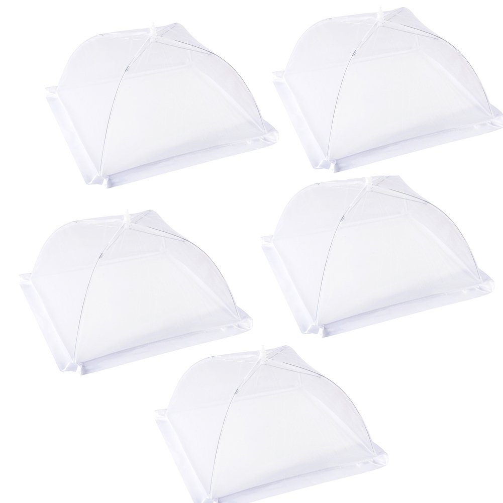 SMAGREHO 5 Pack - Reusable and Collapsible Outdoor Picnic Food Covers Mesh Keep Out Flies, Bugs