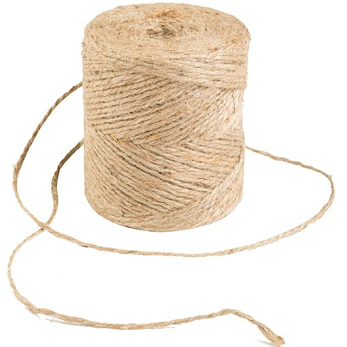 Jute Cord, 2 Ply, Natural,133 Yards, 20 Pound Strength, (Pack of 1) by -