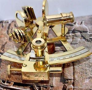 """4 """"ソリッド真鍮六分儀Nautical Working Instrument Astrolabe Ships Maritimeギフト B07BDK3Y8X"""