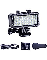 Suptig Light High Power Dimbare Waterdichte LED Video Light Vullen Nachtlampje Dompelen Onderwater Licht Waterdicht 147ft (45m) voor GoPro SJCAM YI Action Camera