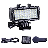 #9: Suptig Diving light High Power Dimmable Waterproof LED Video Light Fill Night Light Diving Underwater Light Waterproof 147ft(45m) for Gopro Hero 6/5/5S/4/4S/3+/2/SJCAM/YI Action Cameras