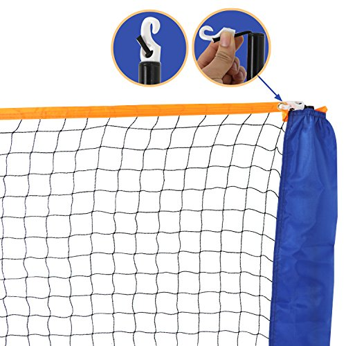 Smartxchoices 10ft Portable Badminton Net and Frame Set Professional Volleyball Training Practice Net with Poles Height Adjustable Net with Carrying Bag by Smartxchoices (Image #3)