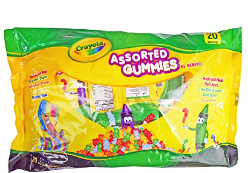 Crayola Peanut Free Assorted Gummies Candy Pouches 20ct (0.6x20)