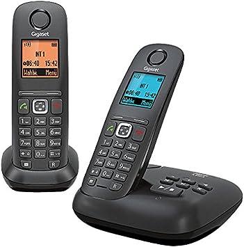 Gigaset A540A Duo - Teléfono fijo, antracita y negro: Amazon.es: Electrónica