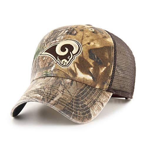 OTS Adult NFL Men's Ledgewood Realtree Challenger Adjustable Hat, Team Color, One Size