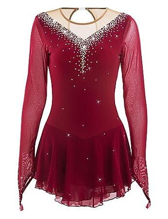 0ebe332e93617 Heart&M Ice Skating Dress for Girls, Handmade Figure Skating ...