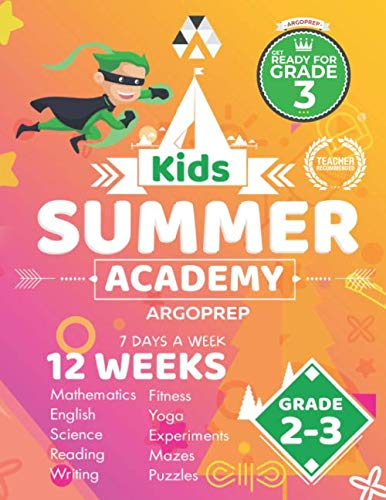 Kids Summer Academy by ArgoPrep - Grades 2-3: 12 Weeks of Math, Reading, Science, Logic, Fitness and Yoga | Online Access Included | Prevent Summer Learning Loss