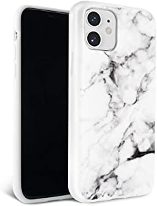 FELONY CASE - White Polished Marble Case for Apple iPhone 11-360° Shock Absorbing, Anti-Scratch, Protects Screen - Stylish Phone Case for Men & Women