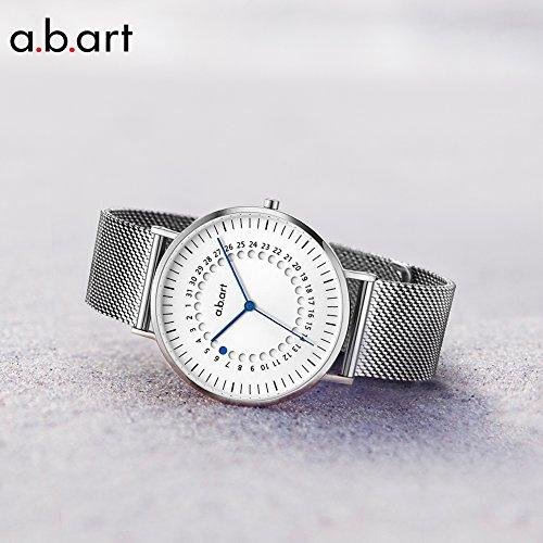 a.b.art FD36-101-6S Women's Fashion Wrist Watch Date Display Watch Silver tone (Mesh bracelet steel-Steel) by a.b.art (Image #2)