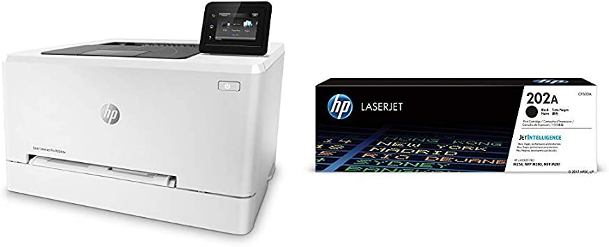 HP LaserJet Pro M254dw Wireless Color Laser Printer (T6B60A) with Standard Yield Black Toner Cartridge
